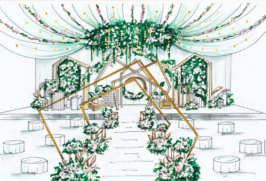 破茧篇——维多利亚婚礼手绘图惊艳来袭