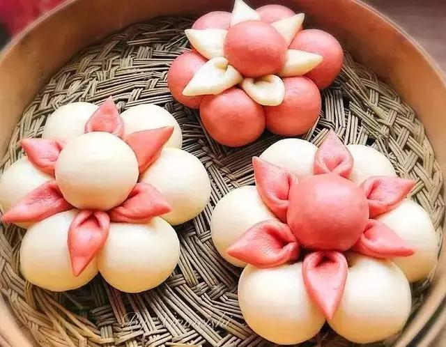 花馒头_教你做好看的馒头花,好看又好吃,值得收藏着做!
