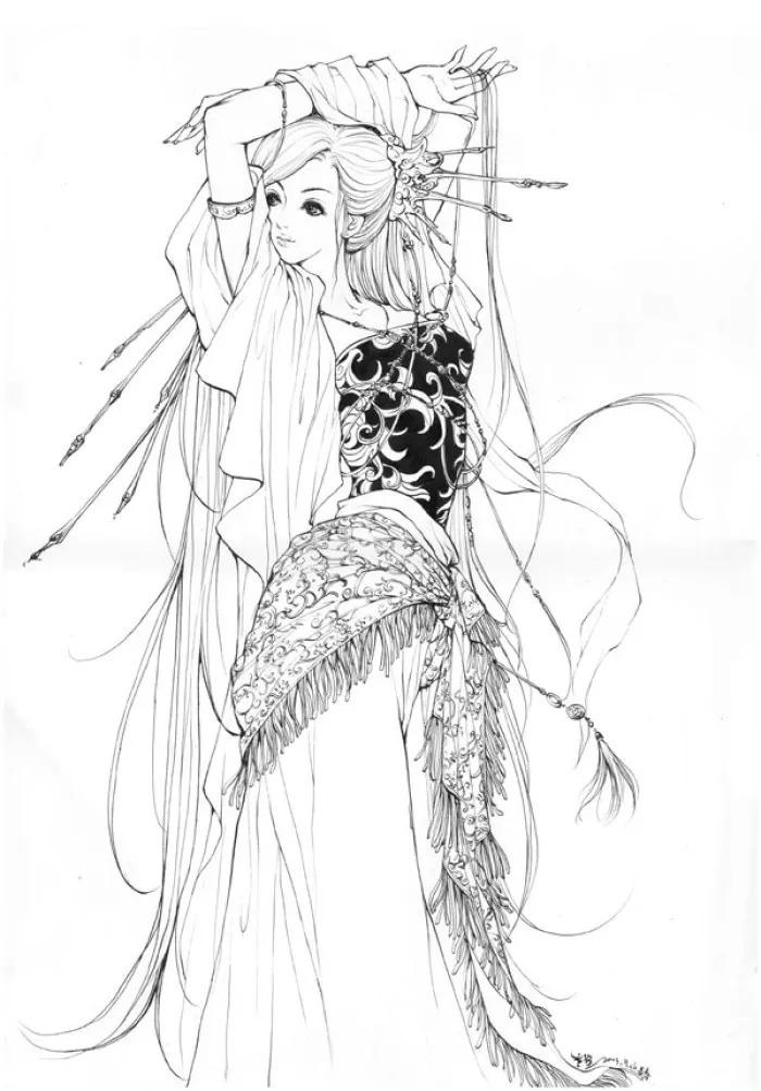 插画师李堃 中国风 少女画风的作品欣赏