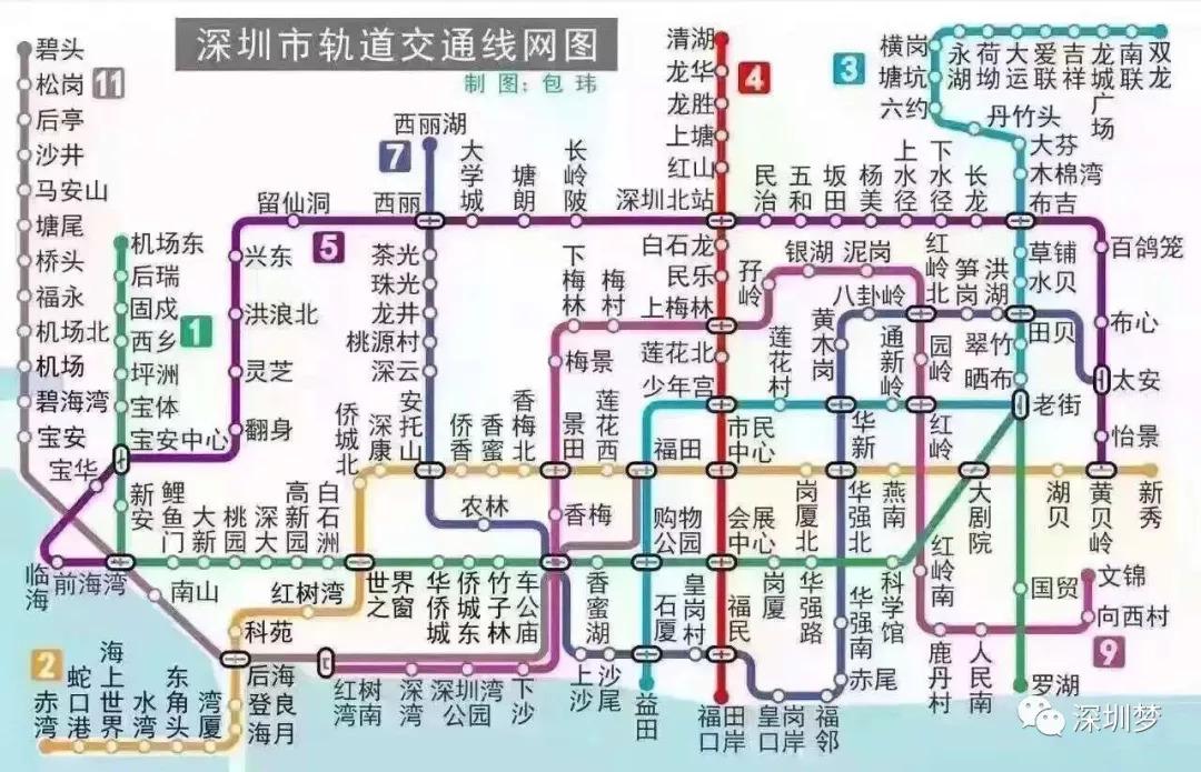 深圳地�_史上最全地铁规划图,深圳33条,广州23条,东莞7条,佛山