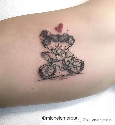 纪念失去的童年-简笔画小清新纹身图片