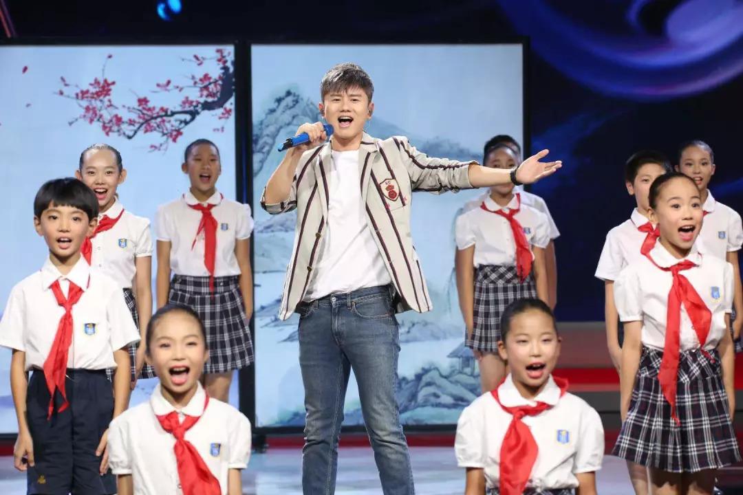 张杰演唱《少年中国说》图片