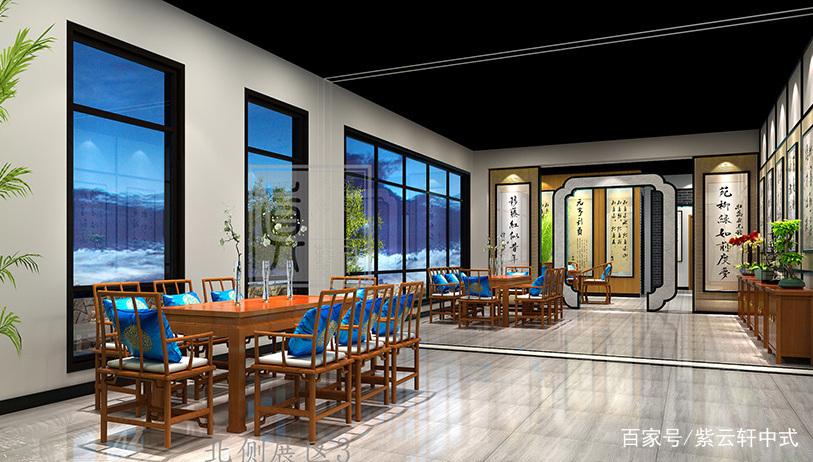 书画展厅中式装修,这设计相当高端了图片