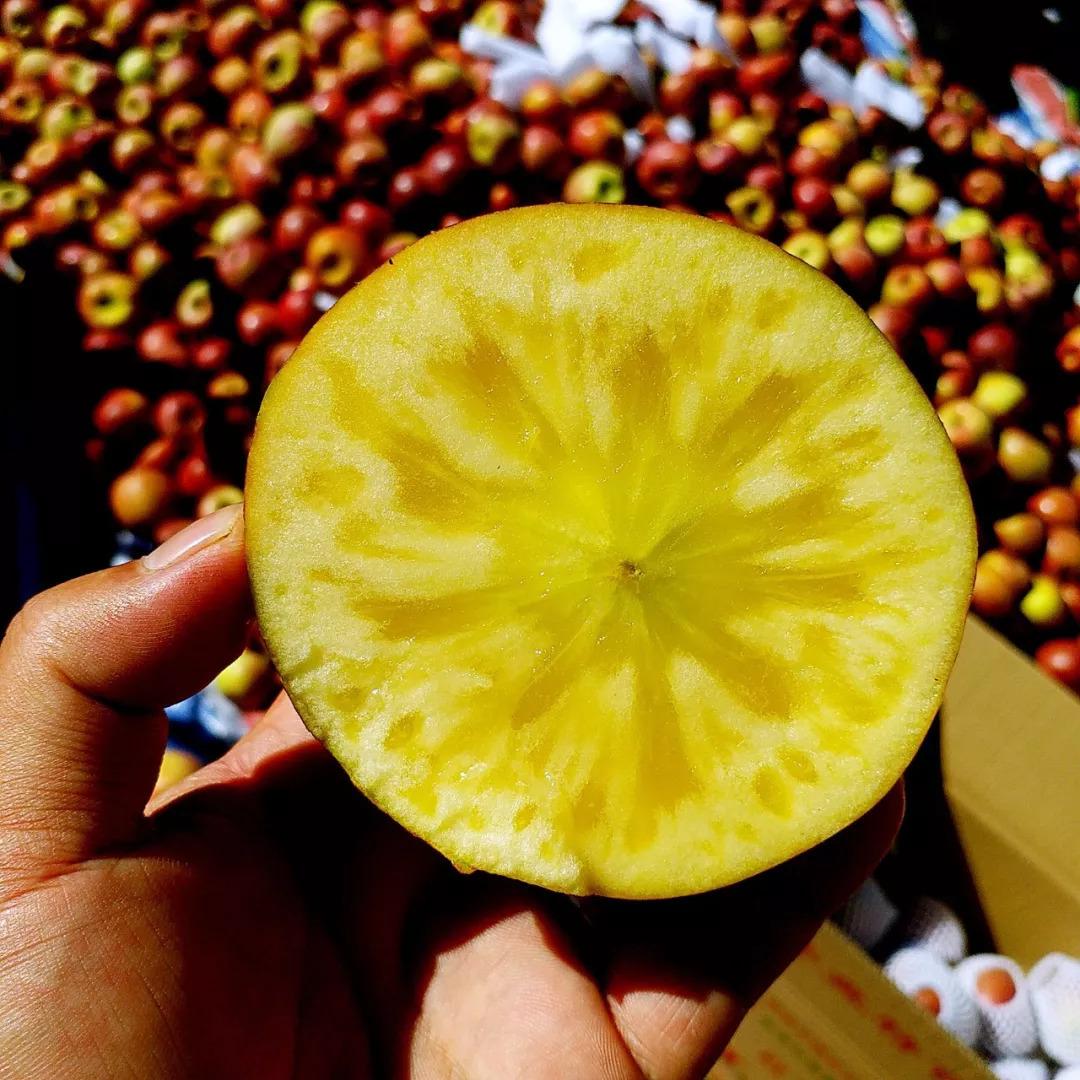 盛产于新疆的糖心红富士苹果,果核透明果肉甘甜,... _新浪看点