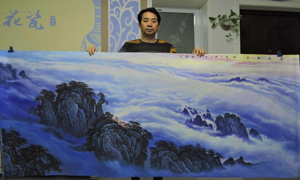河北画家赵洪霞,值得收藏的山水画作品推荐