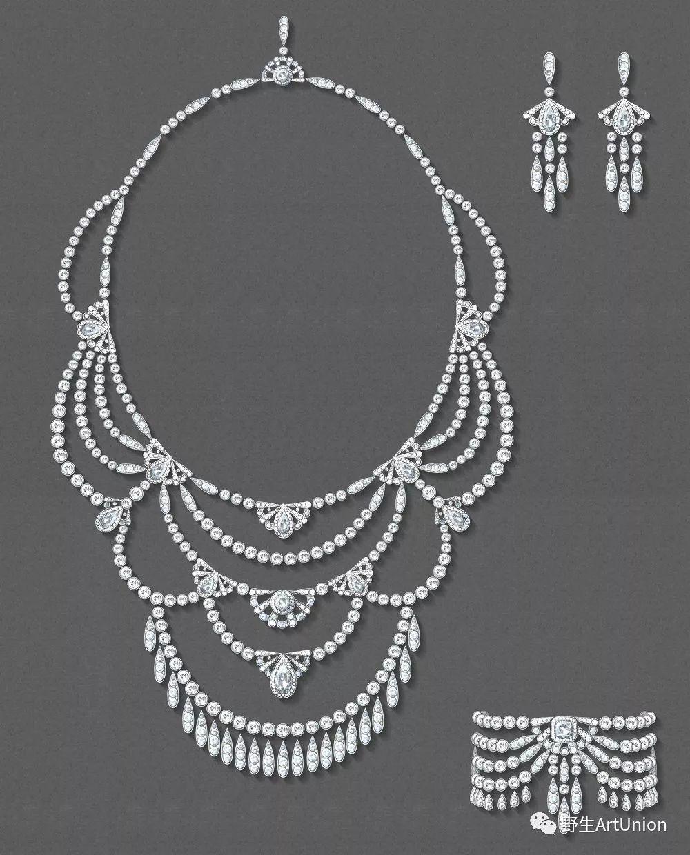 珠宝首饰手绘图合集礼包 | 颈饰,耳饰,戒指,手环,胸针,套件,金属着色