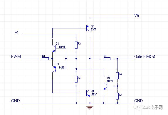 需要使用一个电路,让低压侧能够有效的控制高压侧的mos管,同时高压侧