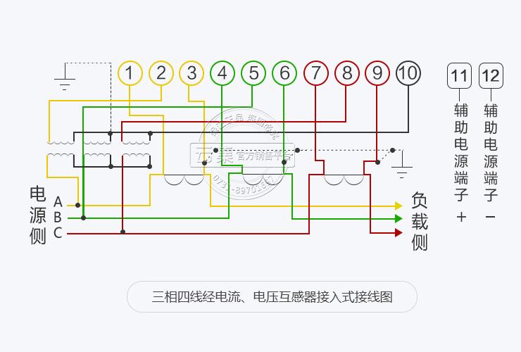 三,三相电表经电流,电压互感器接线图及接线方法