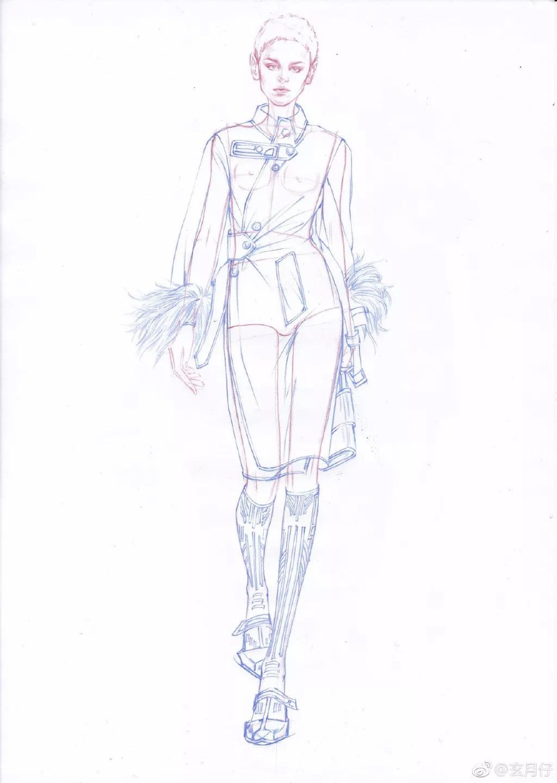 服装设计模特图怎么画