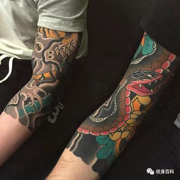 七分袖的纹身,不多不少,刚刚好图片