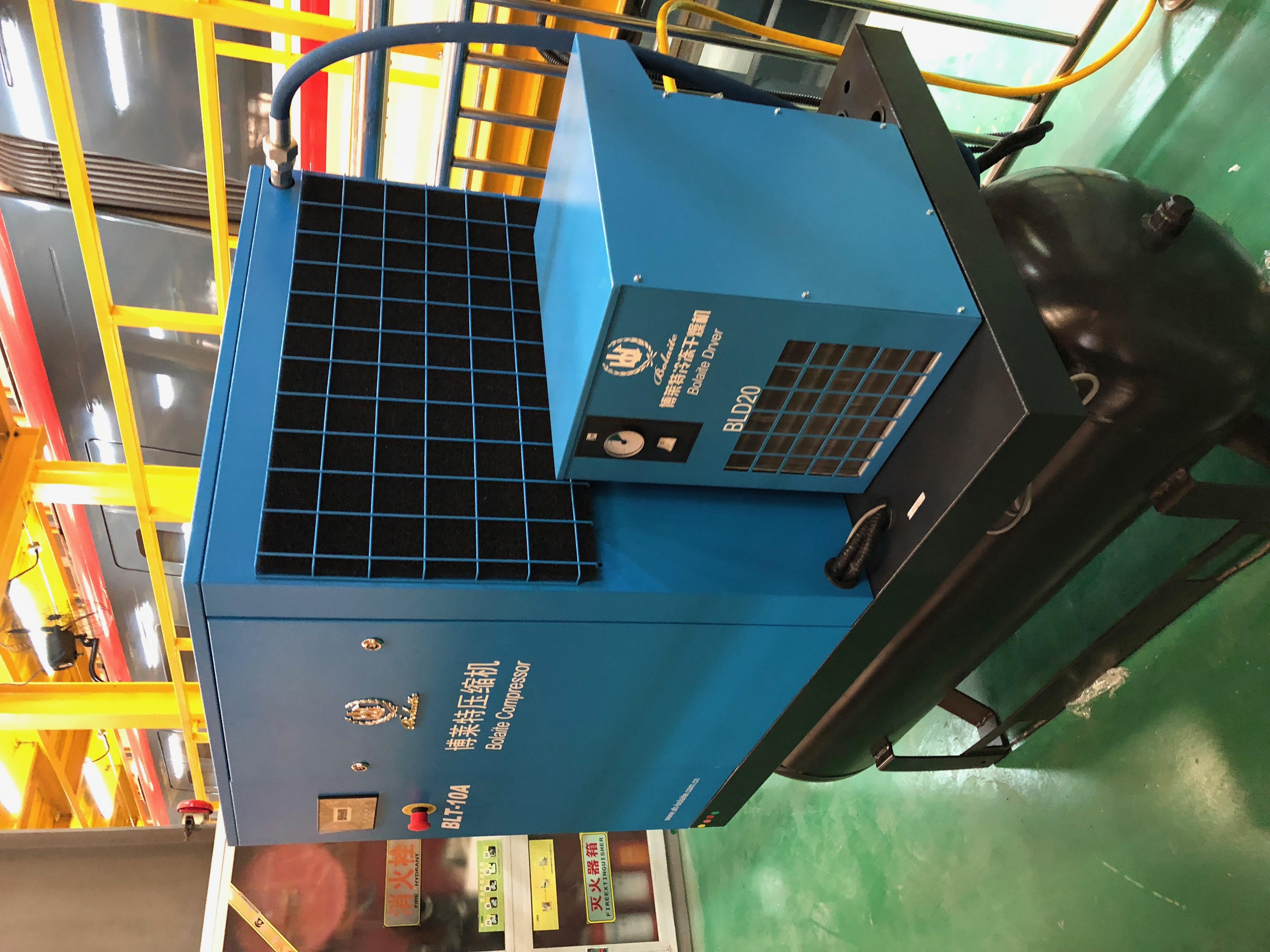 博莱特螺杆空压机15KW,和18.5KW,油滤,空滤,油分心,皮带的型号,急求,请分类?
