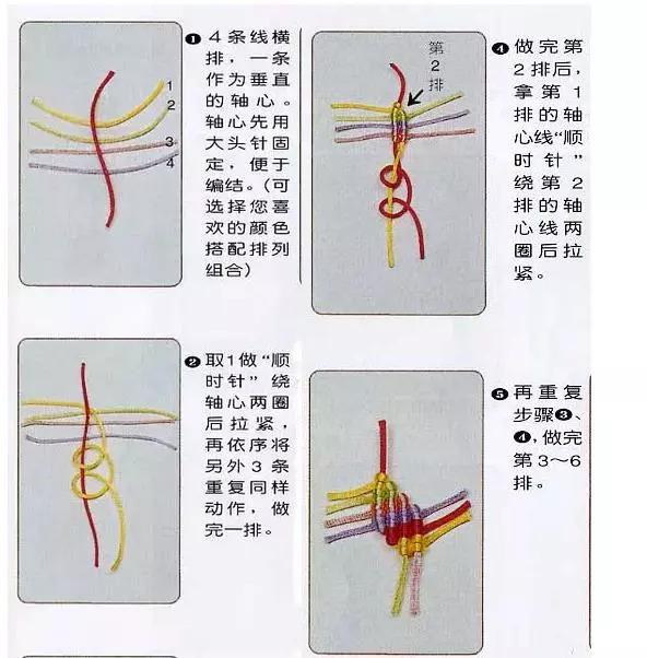 玉石项链手链套箍编织方法 漂亮的七星手链 七星珠手链的编织过程: 1