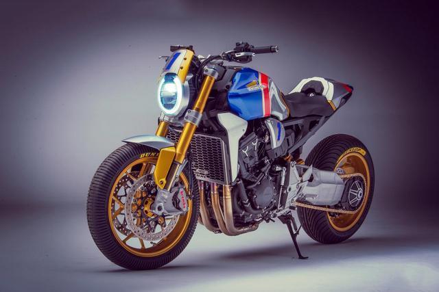欹cb�.��(�_本田cb1000r麦克杜汉纪念版改装,德国摩托车节亮相