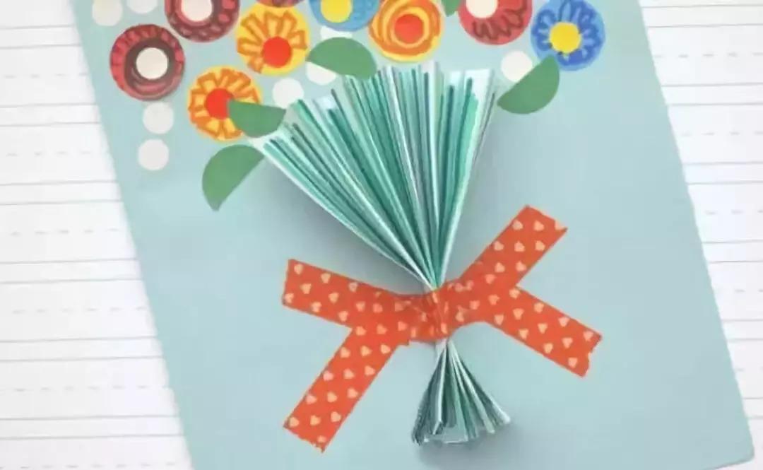 教师节手工制作立体花贺卡,给老师送上专属于你的祝福
