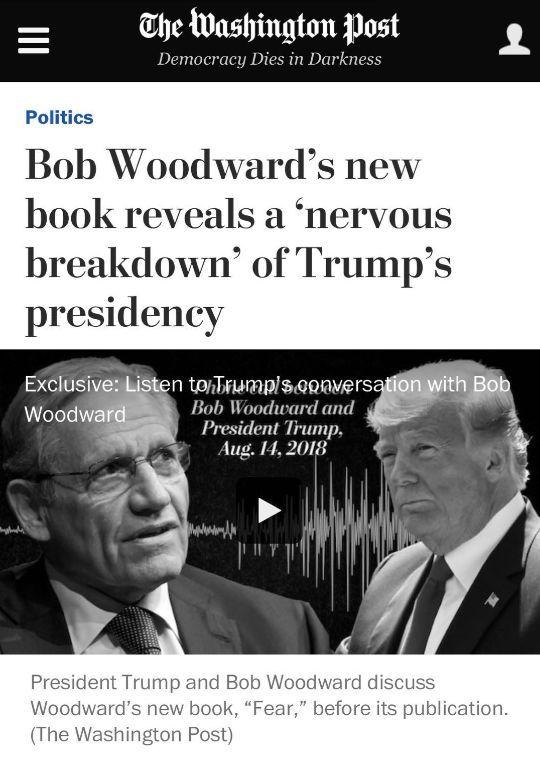 《华盛顿邮报》副主编、普利策奖得主:《恐惧:特朗普在白宫》