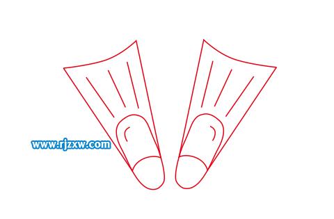 游泳器材简笔画怎么用CDR画出来