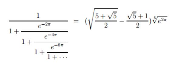 一些拉马努金发现的公式,你觉得美么?