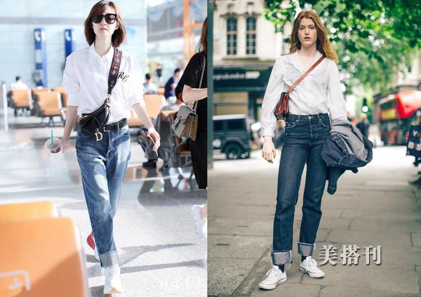 白衬衣——入秋日常休闲的时尚选搭造型,了解下?