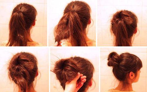 扎丸子头的方法其实也是大同小异的,只不过在营造头发蓬松感的时候要图片