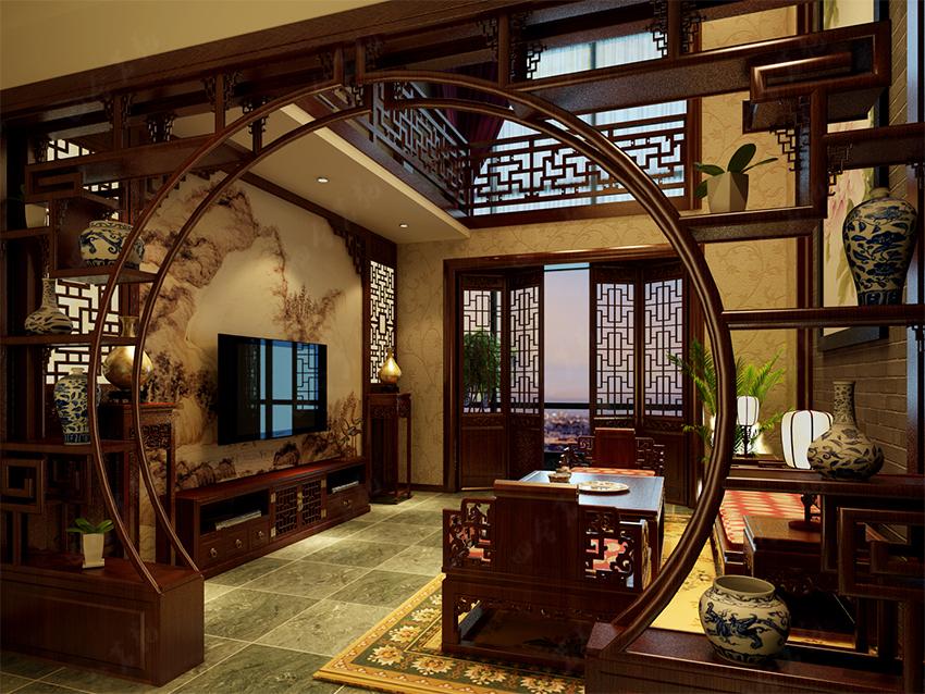 隔世恍若令人的中式别墅装修镇赉别墅6600平方米图片