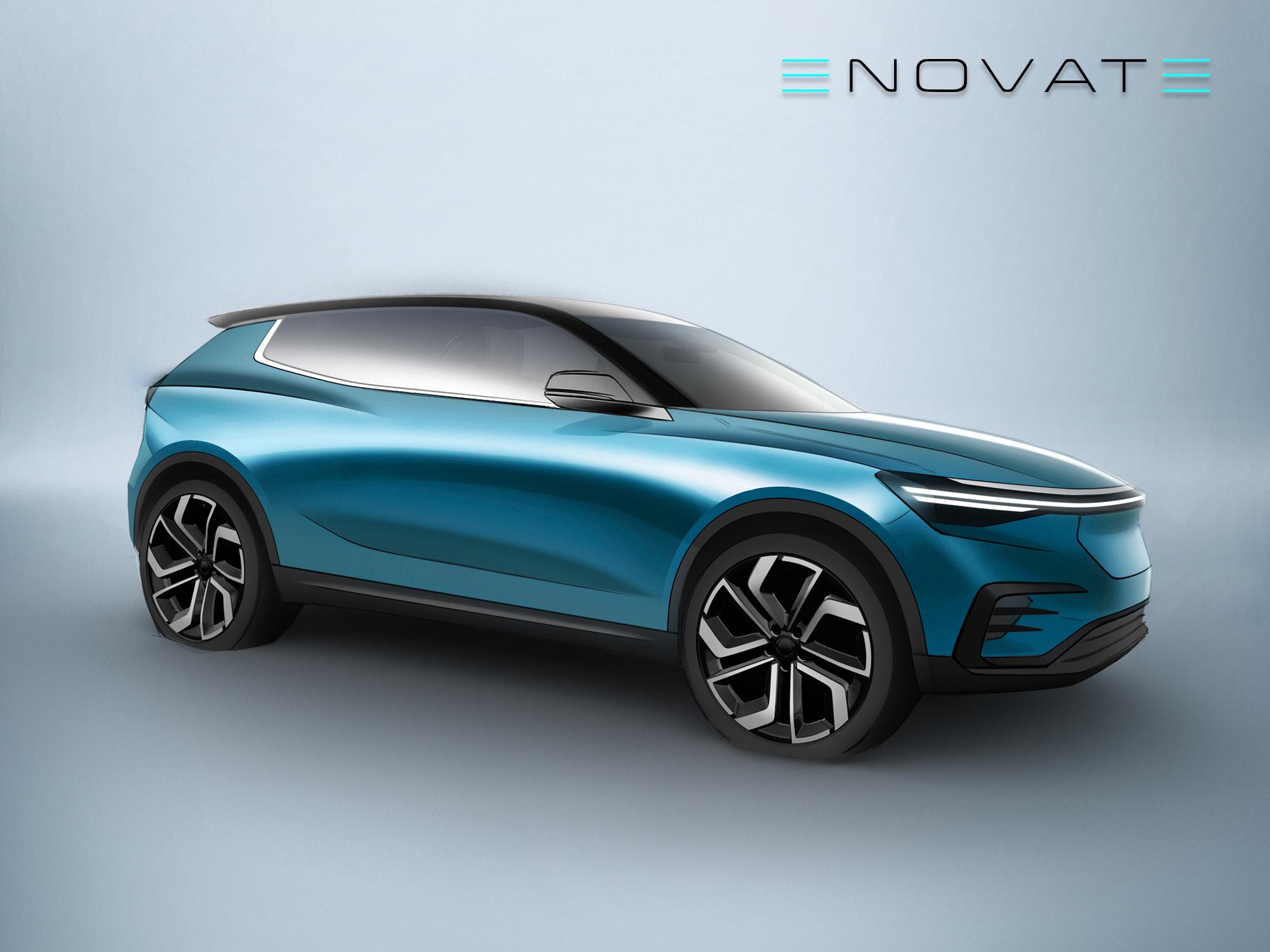 电咖汽车高端品牌ENOVATE首款B级SUV造型曝光