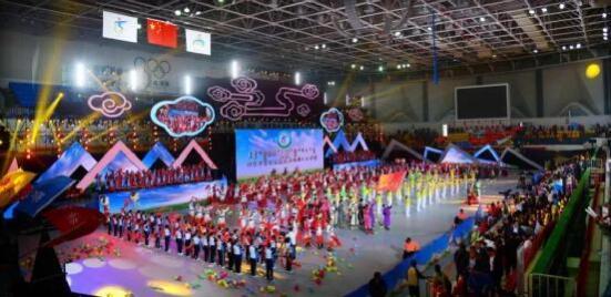 内蒙古自治区第五届残疾人运动会在市体育馆开幕
