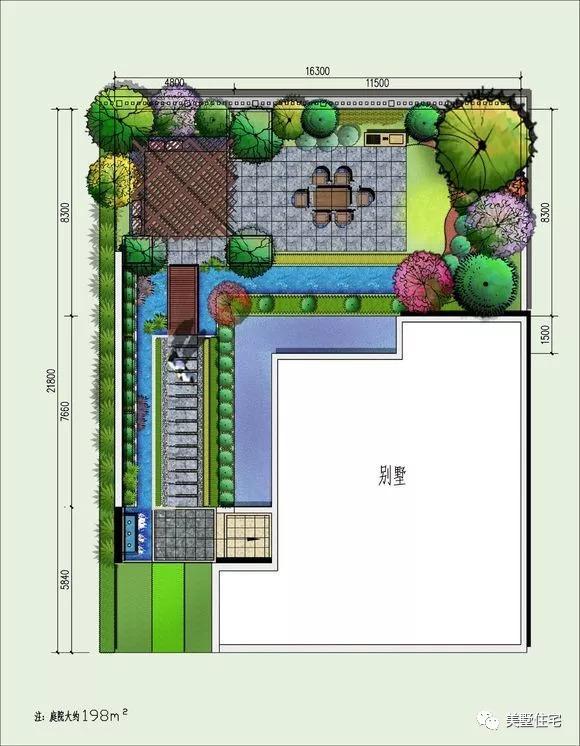 20款经典庭院设计平面图,先收藏着准没错