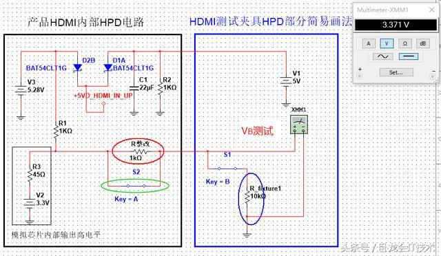 multisim10.0_借助multisim仿真工具分析hdmi接口,继而指导整改通过