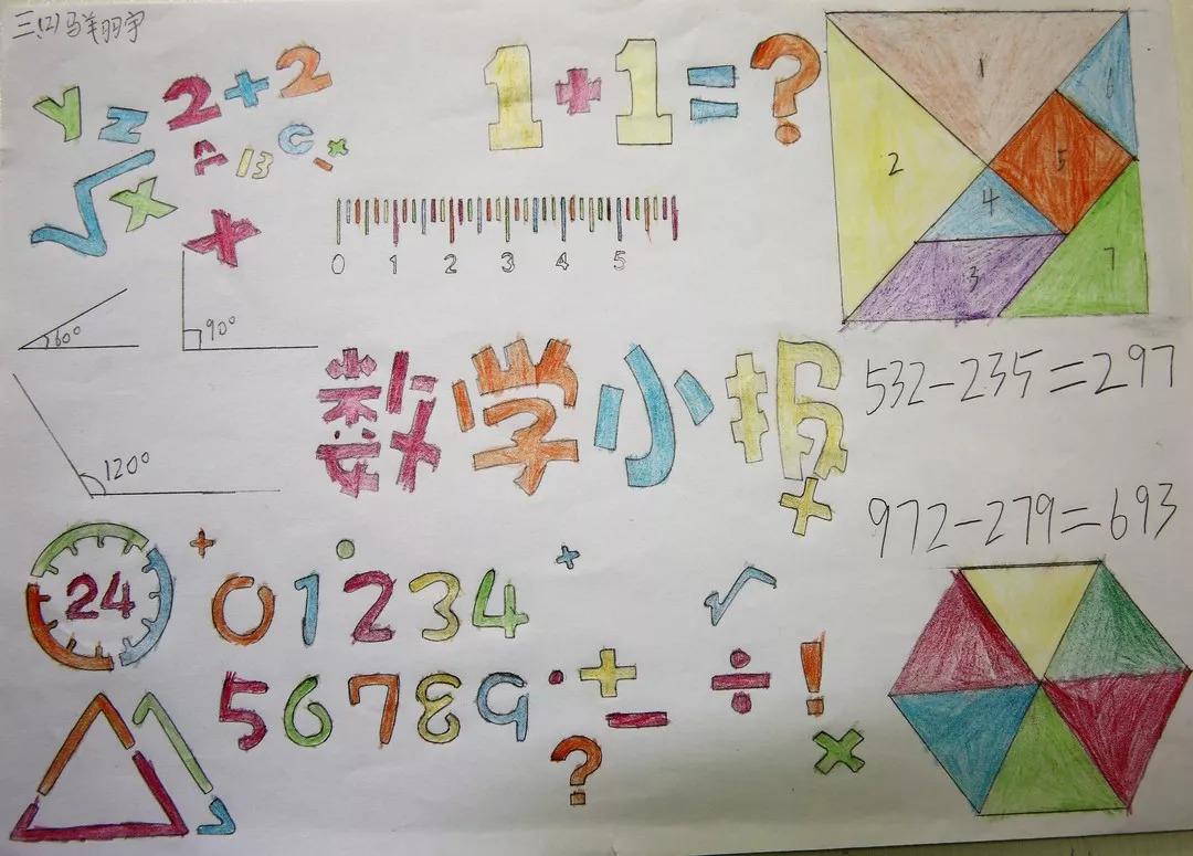 暑假优秀作业展:创意数学图片