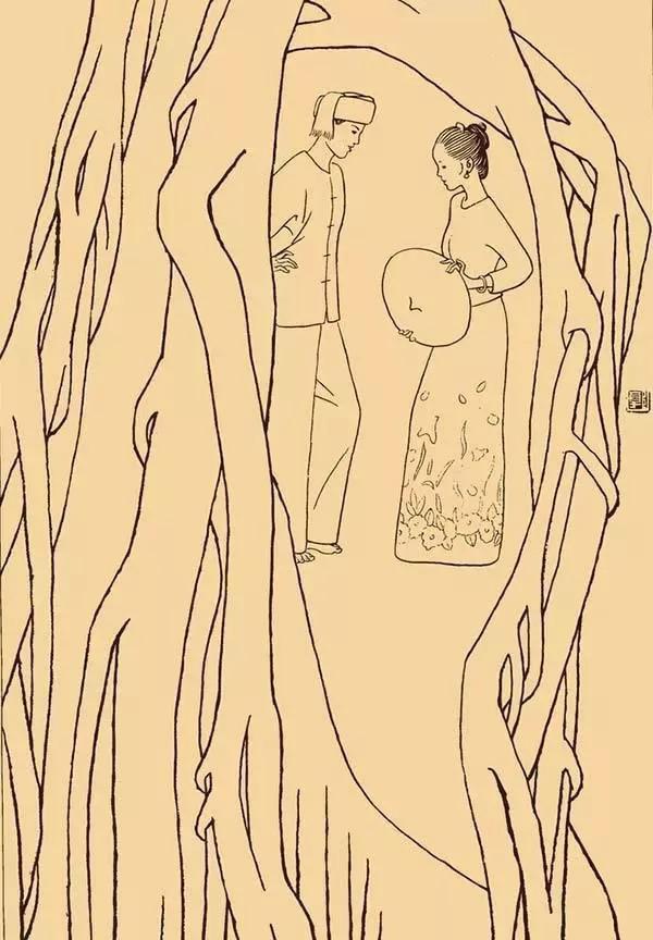 大树下 傣族图片