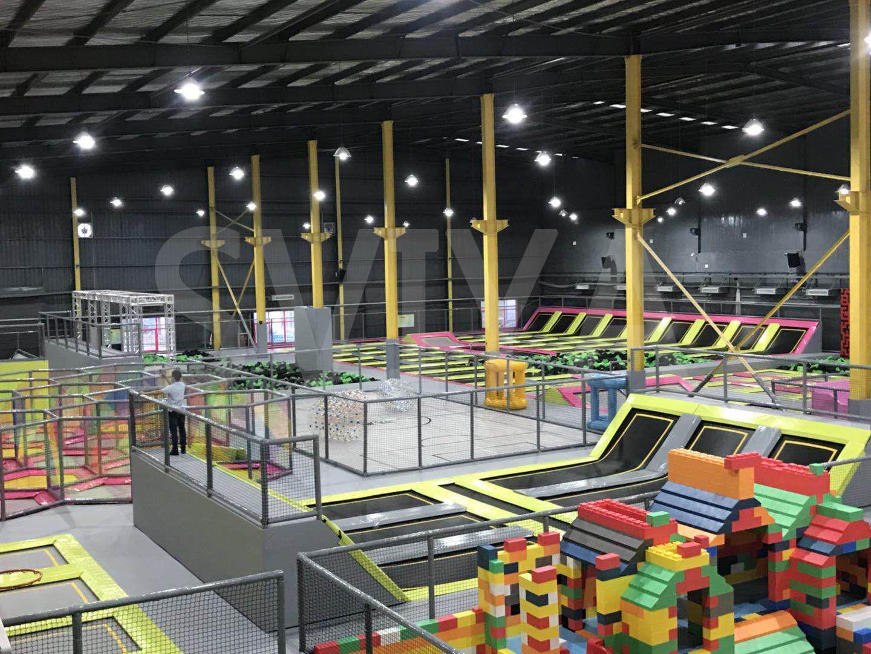 跃趣蹦床工厂 (陕西咸阳) 占地面积超4000平方米跃趣蹦床运动工厂图片