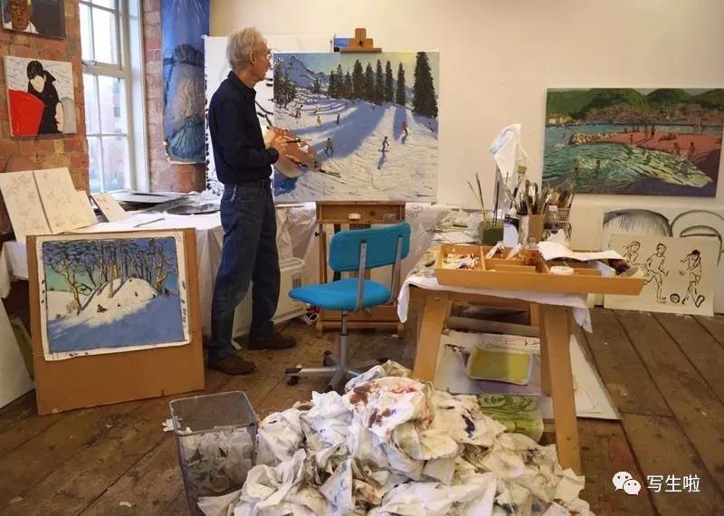 英国当代艺术家_【写生啦】镶嵌在光影里的惬意丨英国当代艺术家安德鲁·马卡拉作品