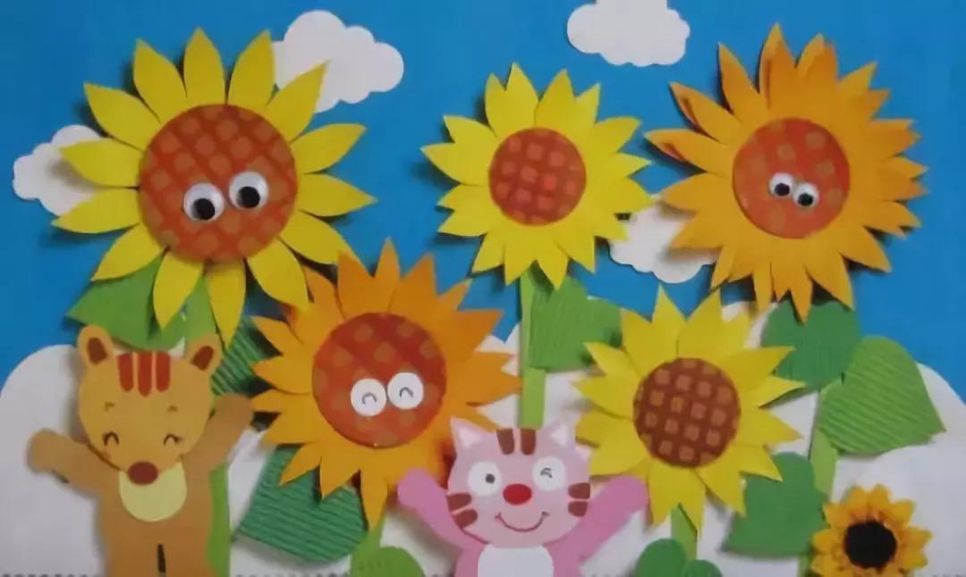 幼儿园精美墙面布置及手工制作!