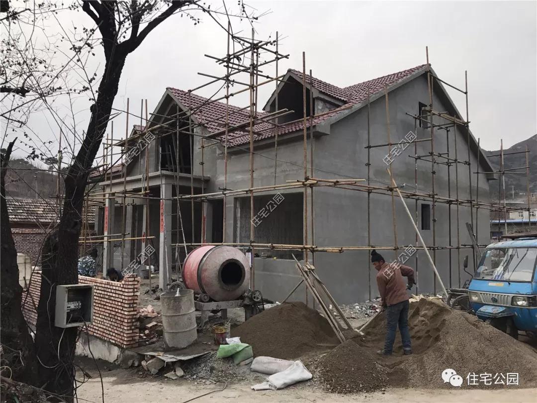 晒家丨北京农村eps模块盖别墅,包工包料1300一平,红砖图片