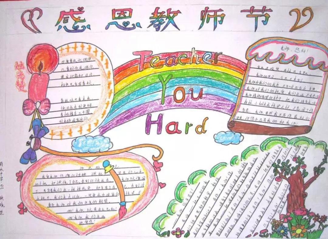 教师节主题手抄报 描写师生情谊/课堂/教师的好词好句