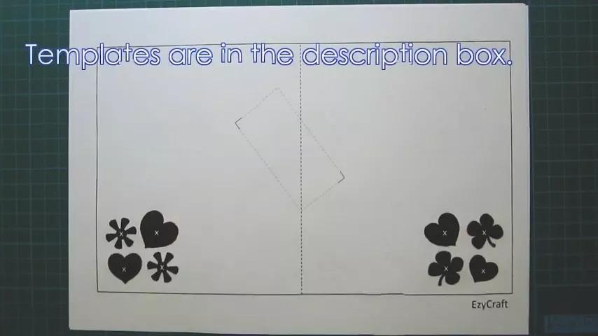 立体贺卡图纸a4纸