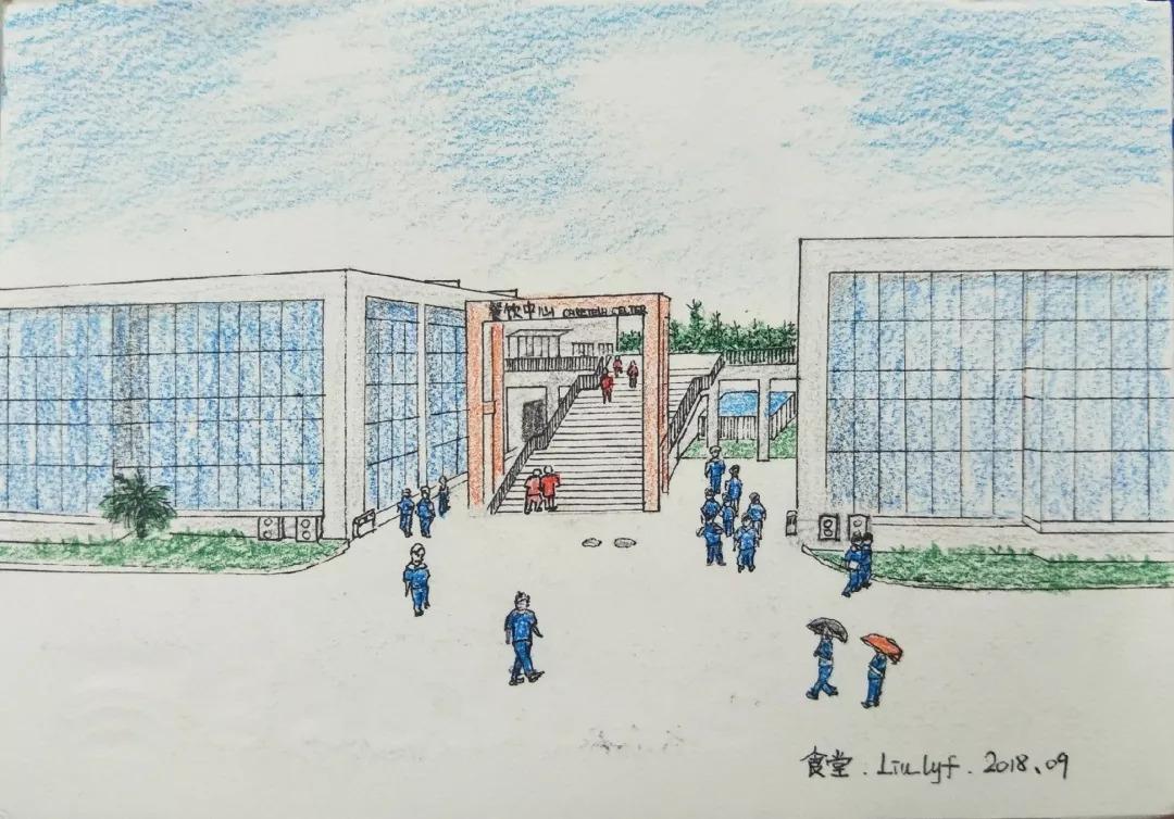 定格|校园风光手绘