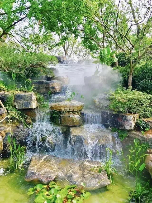 """12个花园""""假山鱼池""""水景设计案例,建一个这样的鱼池,倍有面!图片"""