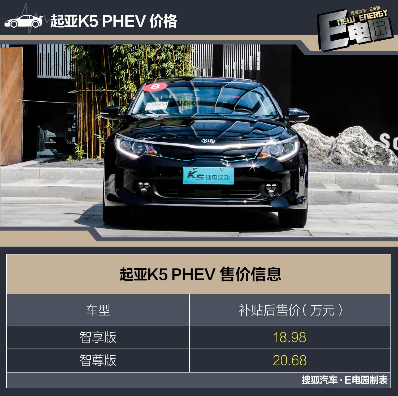 推荐购买智享版车型 起亚K5 PHEV配置对比(第1页) -