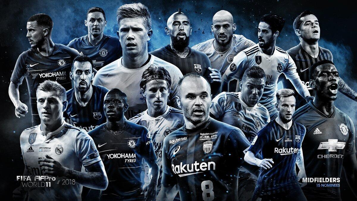 FIFA年度最佳阵容中场候选名单魔笛丁丁领众星