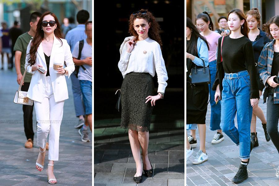 街拍:穿衣打扮已经成为每个女孩的必修课