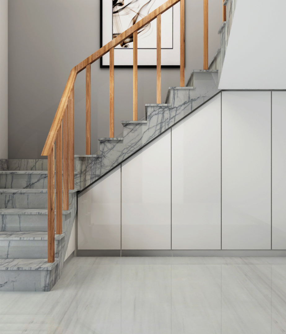 杭州石材家装石材工程楼梯效果图推荐