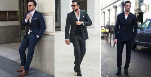 7,商务休闲装:黑色牛皮切尔西靴(非漆皮鞋),卡其裤,牛津衬衫,正装夹克