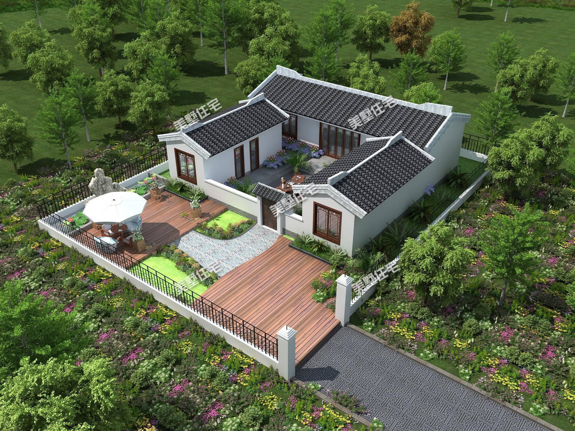 五间一层别墅设计图