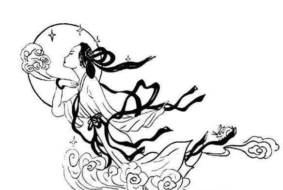 最漂亮的嫦娥怎么画简笔画   请看最漂亮的嫦娥简笔画: