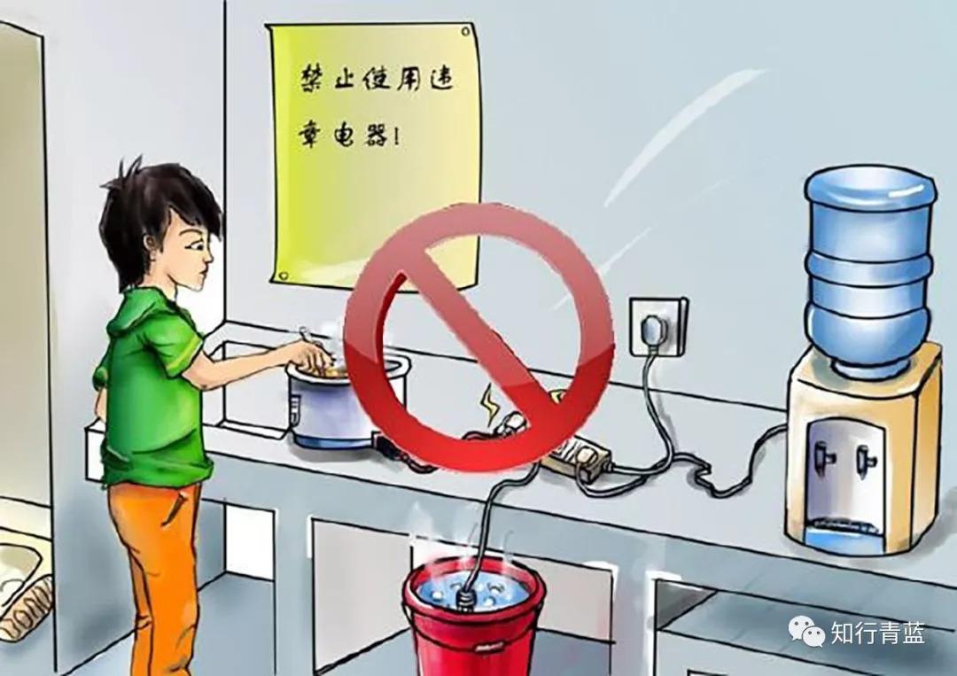 学生公寓内严禁使用明火或大功率电器,如热得快,电饭煲等.