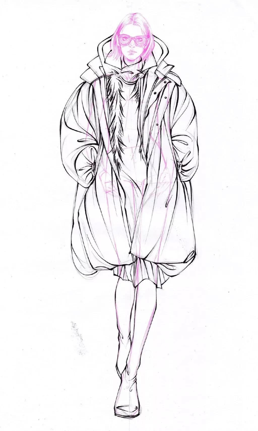 设计服装模特怎么画