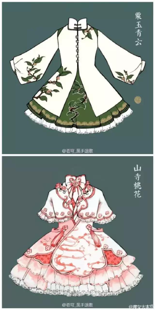 当中国风邂逅洛丽塔,分享一组古风的小裙子图片