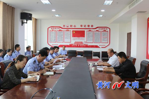 绛县县委副书记、县长薛玉马调研公安局扫黑除恶专项斗争工作