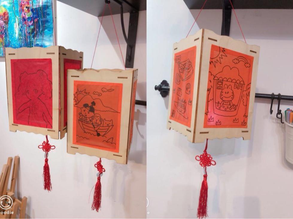 尼奥斯中秋亲子特辑|diy手绘卡通灯笼,法式冰皮月饼制作图片